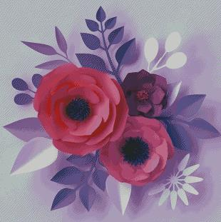 Pink Poppy DIY 5D Diamond Painting Cross Stitch