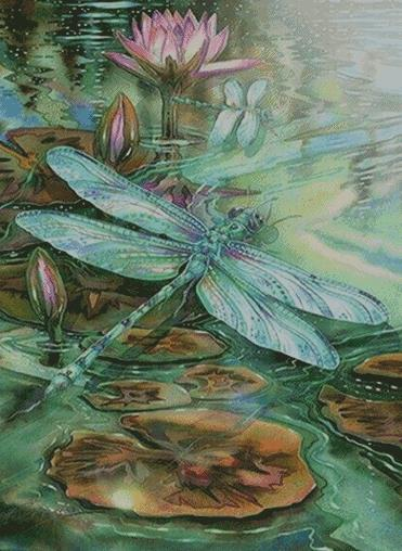 Dragonfly #4 DIY 5D Diamond Painting Cross Stitch