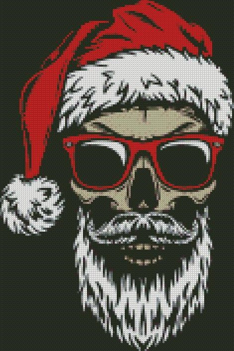 Skull Santa by zombiewannabe DIY 5D Diamond Painting Cross Stitch