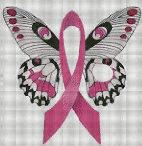 Breast Cancer Awareness DIY 5D Diamond Painting Cross Stitch