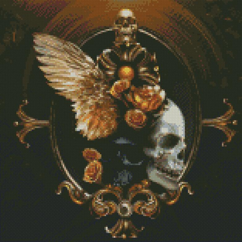 Golden Skulls DIY 5D Diamond Painting Cross Stitch