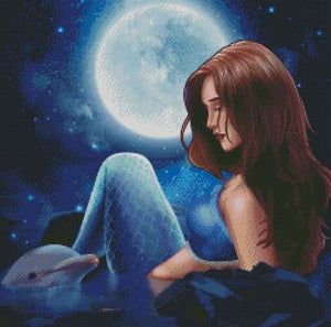 Midnight Mermaid DIY 5D Diamond Painting Cross Stitch