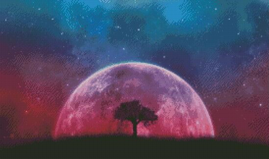 Ethereal Moon DIY 5D Diamond Painting Cross Stitch