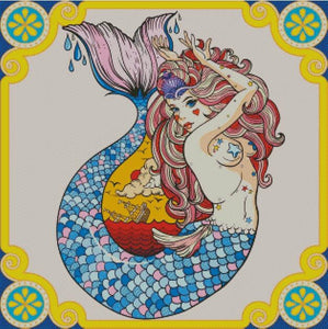Vintage Mermaid DIY 5D Diamond Painting Cross Stitch