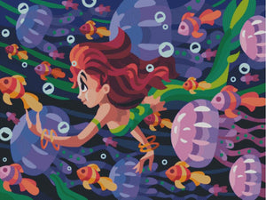 Mermaid Adventures DIY 5D Diamond Painting Cross Stitch