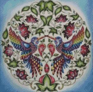 ** UPDATED ** Birds Mirror DIY 5D Diamond Painting Cross Stitch Animal