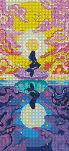 Day & Night Mermaid DIY 5D Diamond Painting Cross Stitch