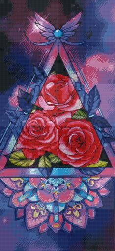 Prism Roses DIY 5D Diamond Painting Cross Stitch