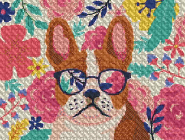 Cool Dog DIY 5D Diamond Painting Cross Stitch