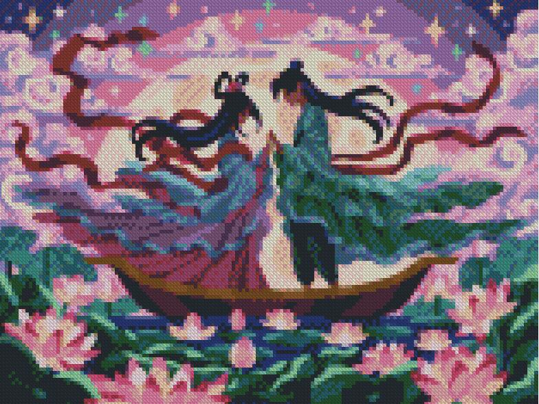 Upon the River DIY 5D Diamond Painting Cross Stitch