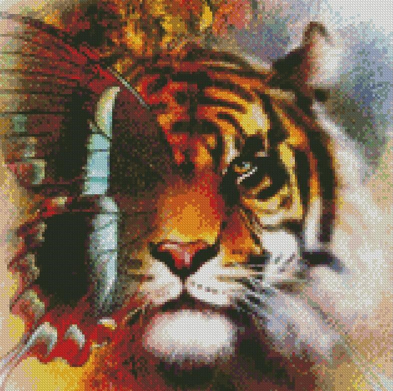 Tiger Butterfly #2 DIY 5D Diamond Painting Cross Stitch