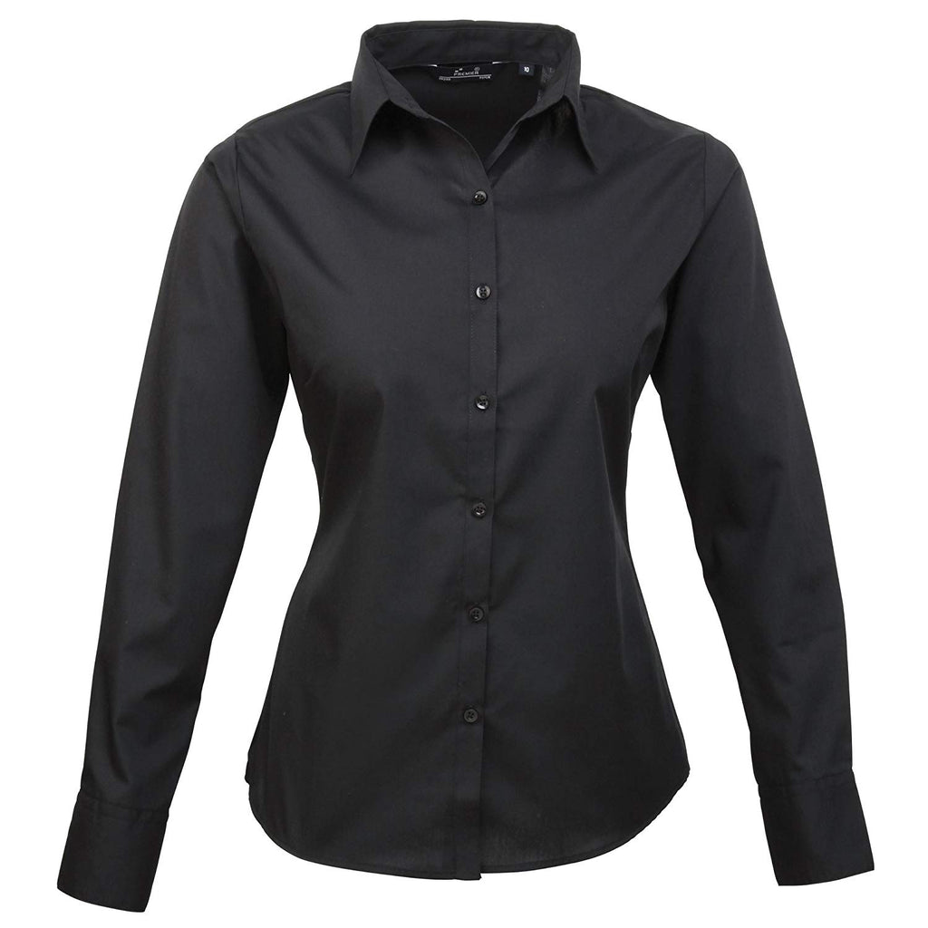 Premier Workwear Damen Bluse Easy Carelangarm Popelin PR300