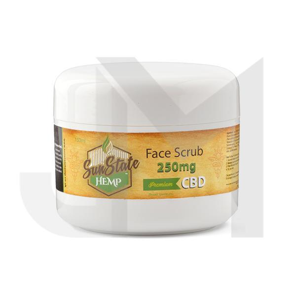 Sun State Hemp 250mg CBD Face Scrub 150ml