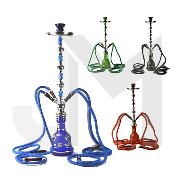 Large 4 Hose Shisha Hookah - Assorted Colours