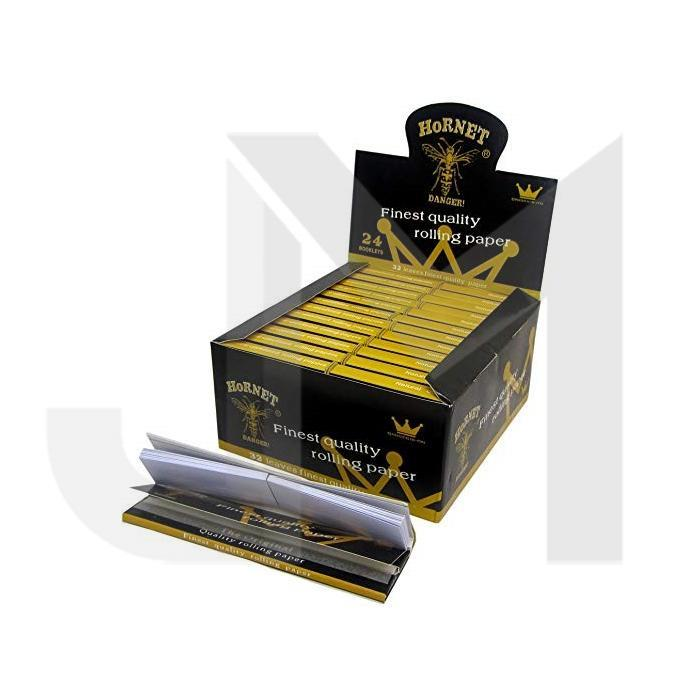 50 Hornet Black King Size Connoisseur Rolling Papers + Tips