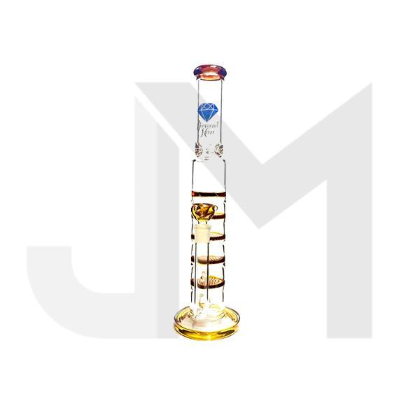 Diamond Haze Large Percolator Glass Bong - HXH-301