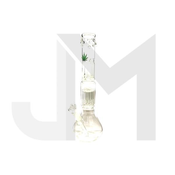 "16"" Green Leaf Glass Percolator Bong - RK45/GWP45"