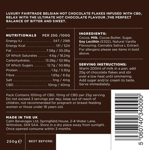 Calm CBD 100mg Belgian Hot Chocolate 250g Bag