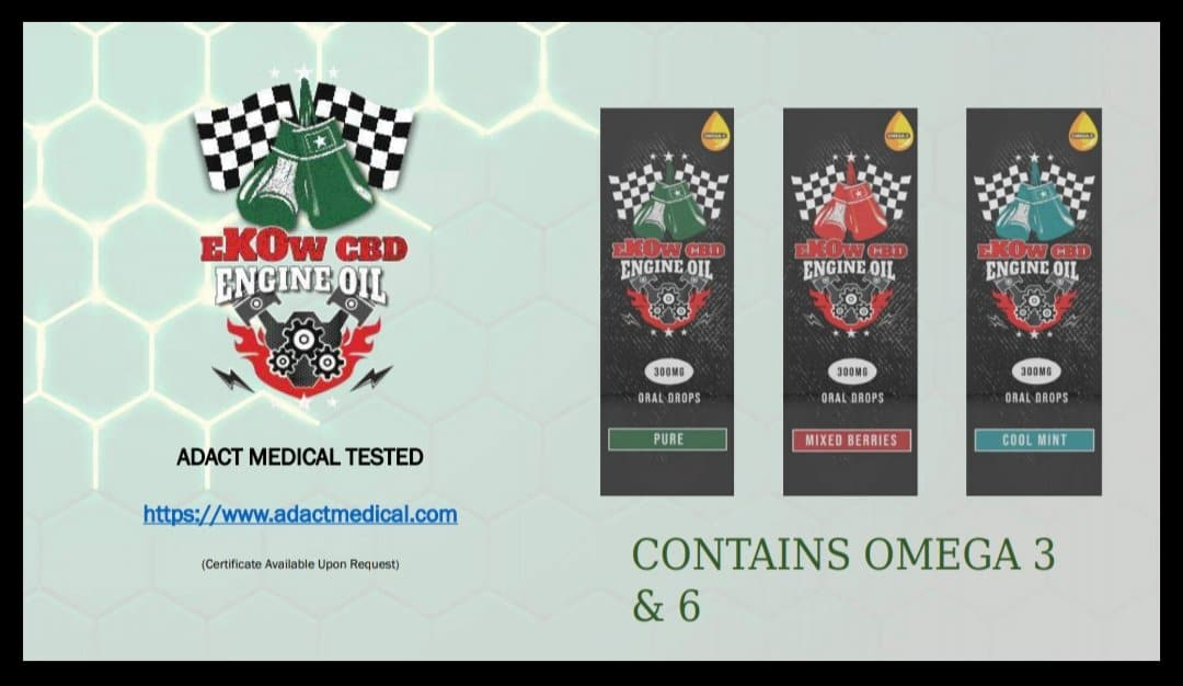 eKOw CBD Engine Oil 300mg CBD Oral Drops