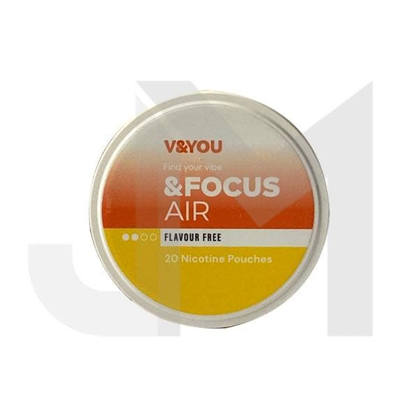 V&YOU &Focus 6mg Nicotine Infused Pouches