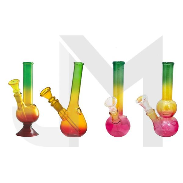"10 x 8"" Rasta Colour Small Glass Bong - GB49"