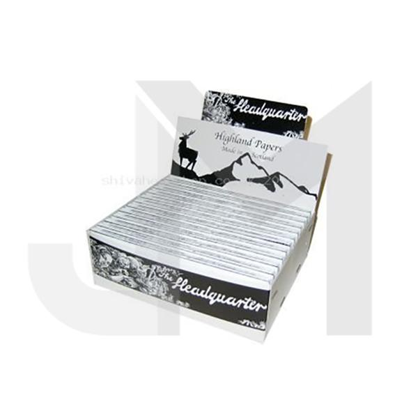 24 Highland Headquarters King Size Rolling Paper & Roach Tips