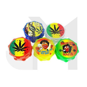3 Parts Acrylic Herb 55mm Grinder with Print - 11166