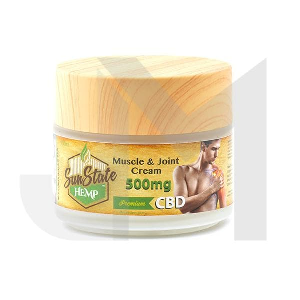 Sun State Hemp 500mg CBD Muscle & Joint Cream 100ml