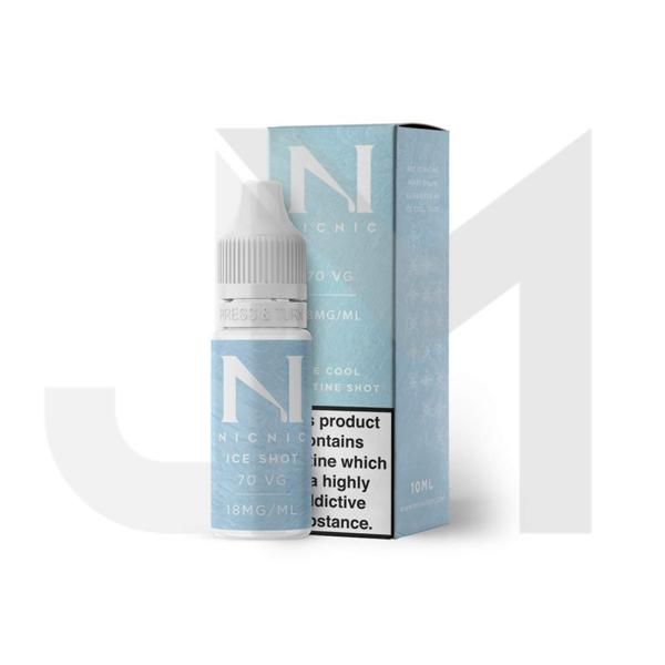 18mg Ice Cool Nic Shot 10ml by Nic Nic (70VG/30PG)