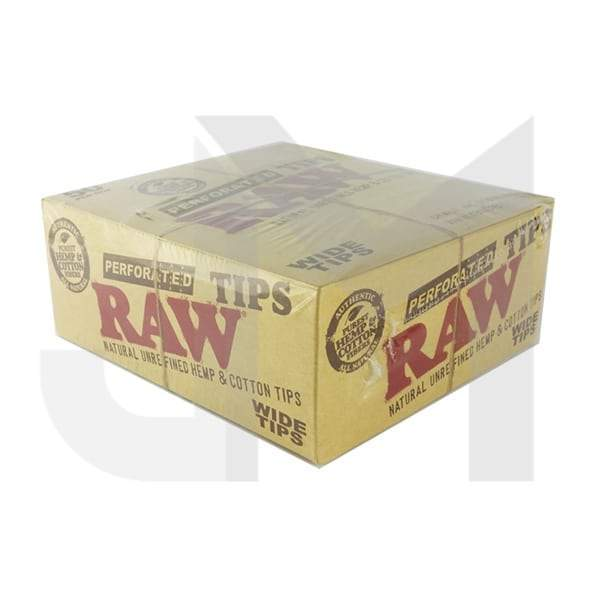 50 Raw Perforated Wide Tips