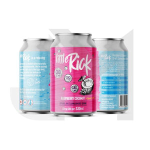 24 x Little Rick 32mg CBD Sparkling Raspberry Coconut Drink 330ml
