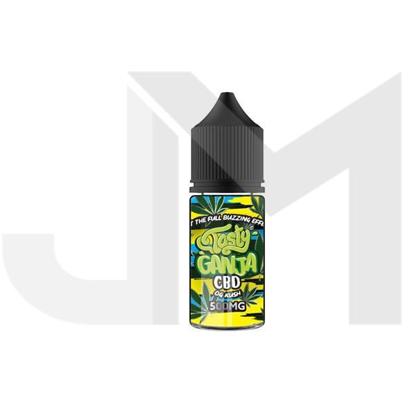 Tasty Ganja 500mg CBD 30ml Shortfill E-Liquid - OG Kush