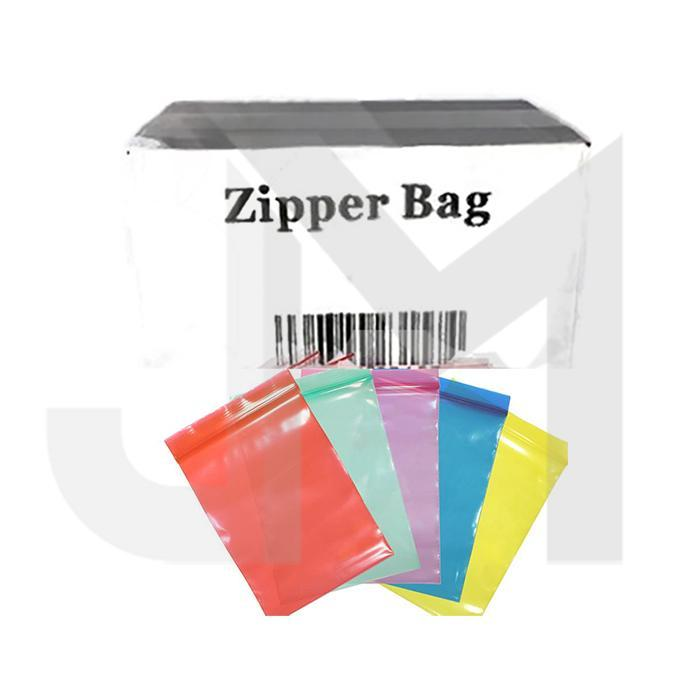 5 x Zipper Branded 40mm x 40mm Red Bags