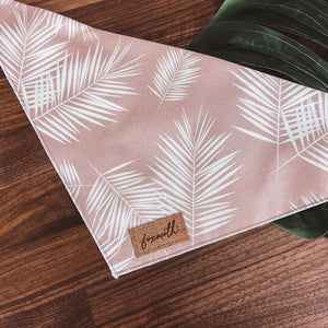 dusty pink palms bandana