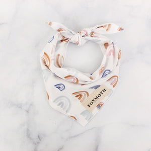 neutral rainbow bandana