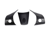 Tesla Model 3 REAL Carbon Fiber Steering Wheel Cover Caps - 3 Pieces