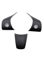 Tesla Model 3 / Model Y REAL Carbon Fiber Steering Wheel Cover Caps - 3 Pieces