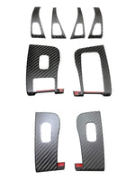Tesla Mode 3 Carbon Fiber Inner Window Switch Cover Trim Panel Door Button Covers
