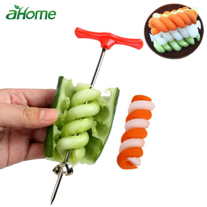Potato cucumber Spiral Manual Roller Cutter