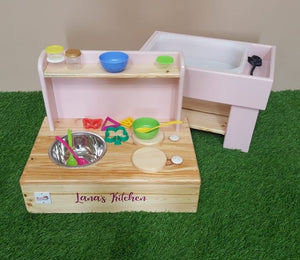 My first mud kitchen & sensory station
