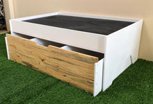 Activity table with chalkboard and storage drawers - ideal for train sets, cars, arts & crafts