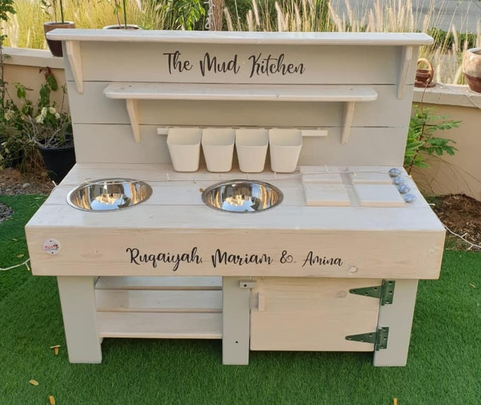 Mud Kitchen 2 in 1 with hidden water table