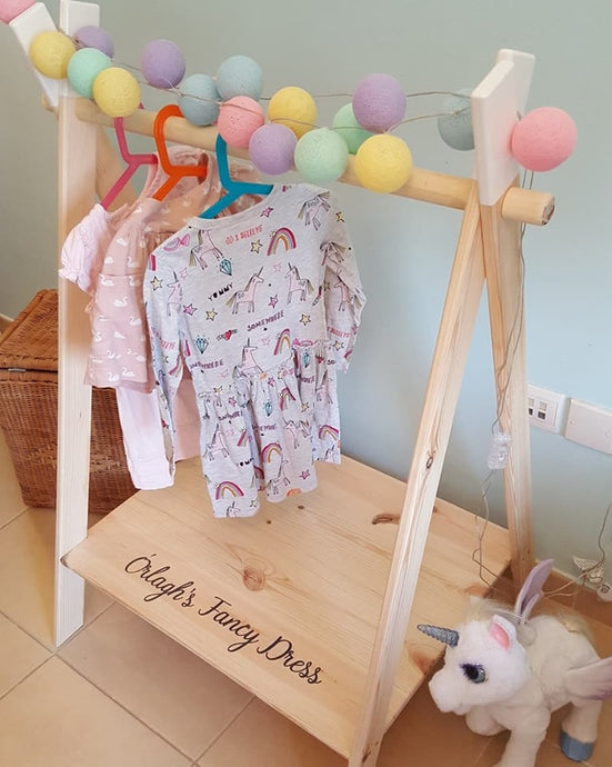 Children's Teepee Clothes or Dress Up Rack