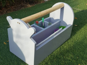 Outdoor art supply storage caddy
