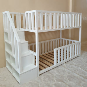 The Peyton Bunk Bed with storage stairs