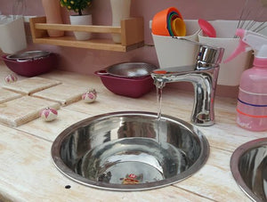 Working mud kitchen faucet
