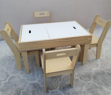 Activity table - white-/ blackboard