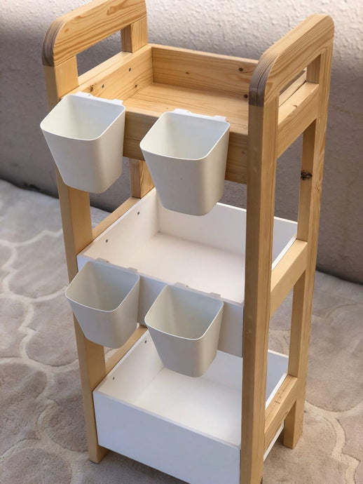 Art supply storage shelf
