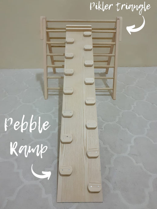 Pikler triangle add on: Pebble Ramp