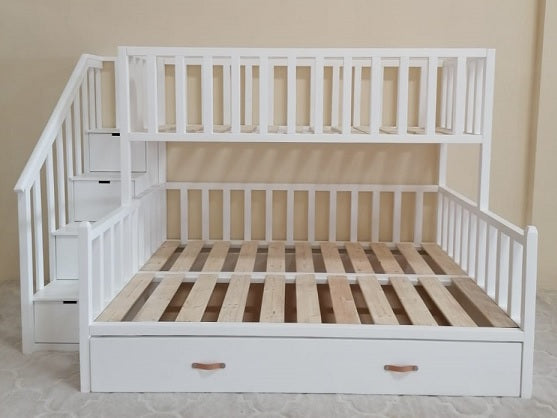 The Aladdin Bunk Bed with underbed/storage drawer and storage stairs